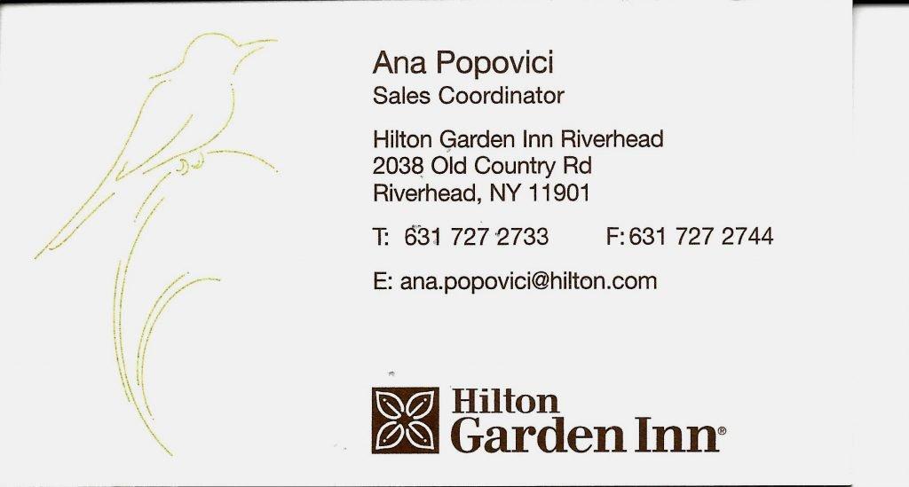 Beautiful Hilton Business Card Ideas - Business Card Ideas - etadam.info